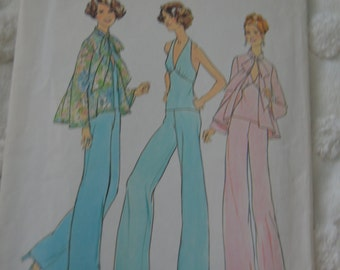 Vogue 7012 Misses Top Halter Top and Pants Sewing Pattern - UNCUT  Size 14 and 16