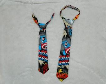 Captain America Adjustable Infant/Toddler Neck Tie 0-18 months, 2T-4T, 5T/6T, 7/8