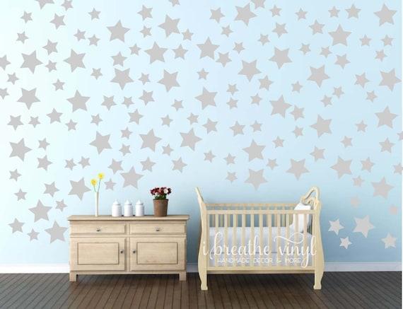 Gold Star Wall Decor: Star Confetti Wall Decals-Alternative Wallpaper-Gold Or Silver