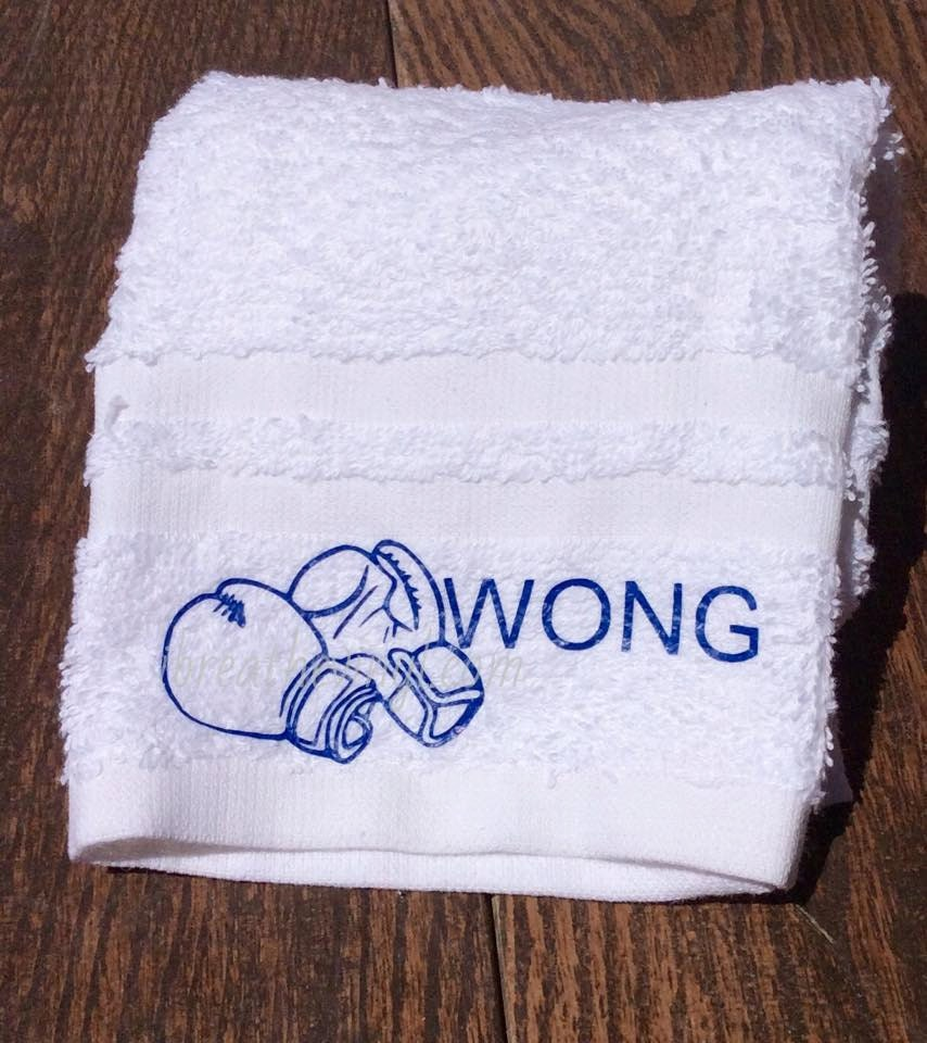 Personalized Fitness Gloves: Personalized Gym Towel With Boxing Gloves Workout Towel