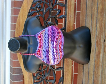 Purple Gypsy Hippie Crochet  Festival Top