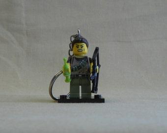 Dino Tracker Lego Keychain