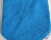 50% OFF Neck Warmer, Kids' Winter Neckwarmer, Fleece & Jersey, adjustable scarf, velcro-fastening, blue fleece, burgundy/grey striped jersey