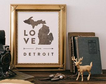 Love from Detroit • Giclee Art Print