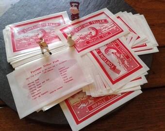 6 or 10 or 20+ wedding party favor vintage retro Fish Fortune Teller cracker snap filler birthday Halloween Thanksgiving card insert supply