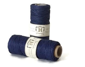 Navy Blue Cord,  Macrame Hemp Cord,  Macrame Hemp, Macrame Cord, 1mm Hemp Cord, Colored Hemp Twine