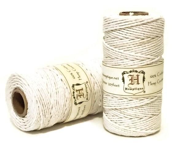 Hemp cord white macrame cord packaging string hemp - Fil pour macrame suspension ...