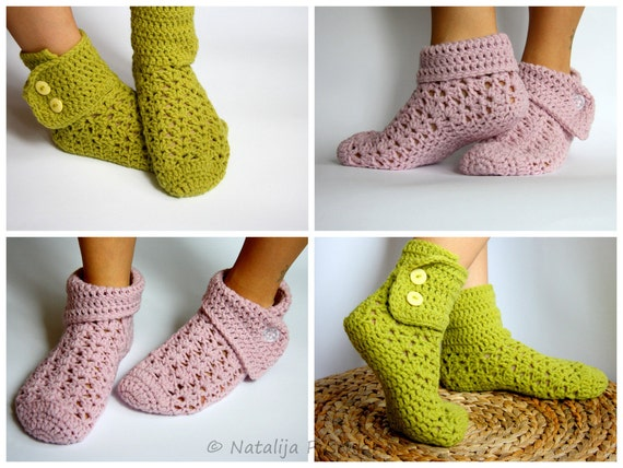EASY and Quick crochet pattern Socks - Size UK 3,5-9, Crochet Socks, Sock Pattern, Slipper Pattern, Womens Slipper,E-Book,DIY,Step by Step