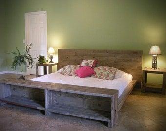 Platform Bed Reclaimed Pallet Wood