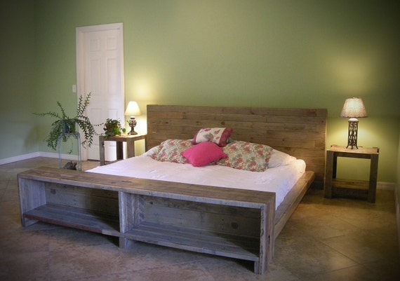 Lit En Palette De Bois Avis : Wood Pallet Bed Frame with Storage