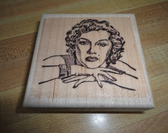 Marilyn Monroe Rubber Stamp
