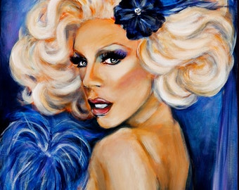 "Ru Paul Custom Portrait  8""x10"""