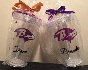 Personalized (Baltimore Ravens) Tumbler