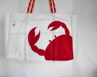 Made to order RED CRAB XLG Recycled Sail Bag