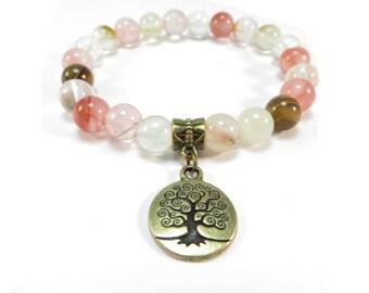 Tree Of Life Mala Bracelet Yoga Jewelry Wrist Mala Meditation Healing Mala Tourmaline Beaded Bracelet Birthday Christmas Gift For Her