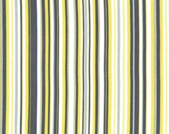 1 YARD- Michael Miller Play Stripe in Citron