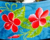 Hibiscus batik sarong