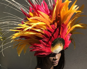 Fire feather headdress