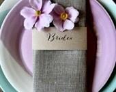 JAN | Kraft Wedding Napkin Place Cards, Wedding Place Cards, Kraft Place Cards, Personalised Place Cards, Place Markers