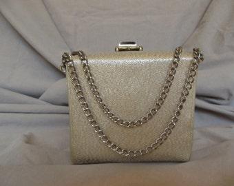 Vintage Silver Box Evening Handbag