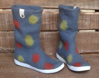 Felted boots Fruity Drops