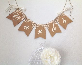 Cards wedding banner, cards sign, cards banner,  gift table decor, bird cage banner