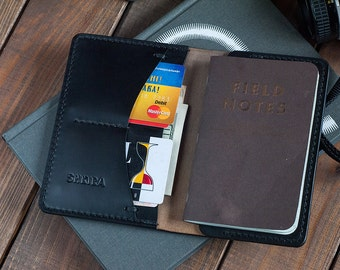 Field Notes Cover Wallet Black Horween Chromexcel