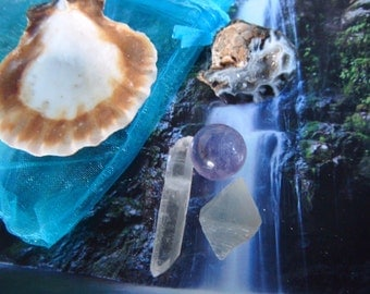 Language of Light Harmony Pouch ~Ask..Believe..Receive~Meditation Stones for Calming and Positive Energy