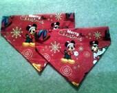 Christmas Dog Bandana Made from licensed Disney fabric!!