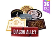 28 Diagon Alley Signs  - Harry Potter Party with High Quality Printable PDF Pages - INSTANT DOWNLOAD
