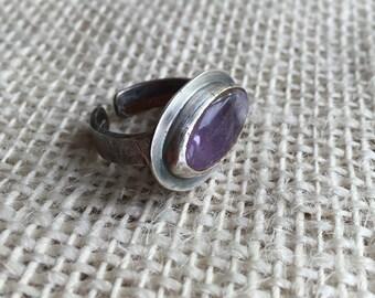 Aged Amethyst ring