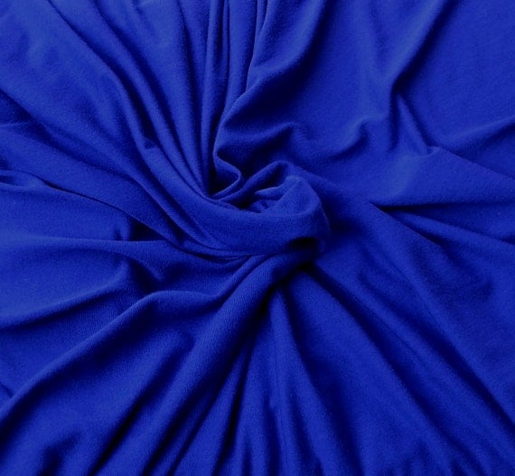 Celestial blue micro modal fabric by the yard jersey knit for Celestial fabric by the yard