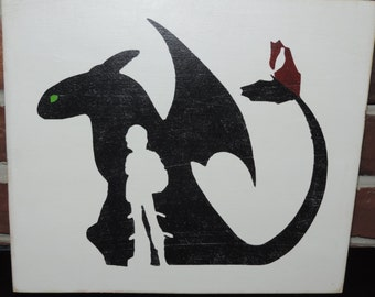 How to Train Your Dragon Pallet Art for Boy's Room