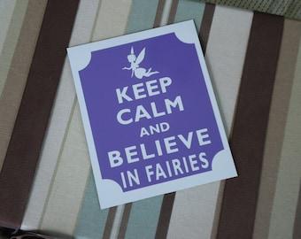 Keep calm believe in fairies fridge magnet