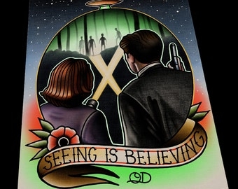 X-files (Seeing is Believing) Tattoo Flash