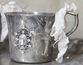 Vintage silver cups, vintage french decor, vintage silver-plate, Mediterranea Design Studio, altered silver goblets, shabby chic silver