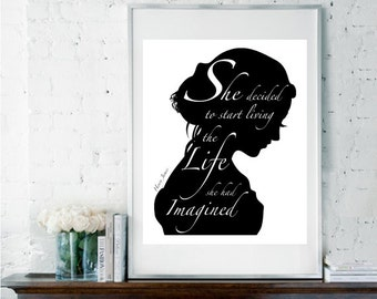 Inspirational Quote, Literary Quote, Black & White Art, Motivational Art, Dorm Room Decor, Graduation Gift, Leaving Gift, Henry James Quote