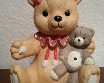 Ceramic Bear Musical Figurine