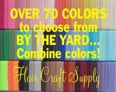 FOE ELASTIC - CHOOSE 1yard from assorted colors of elastic - for Headbands or Hair Ties - Fold over elastic, satin elastic