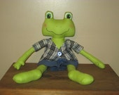 Primitive Boy Frog Doll