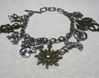 READY TO SHIP Game of Thrones Great Houses of Westeros Charm Bracelet
