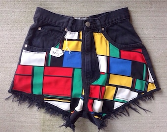 High Waisted Fabric Shorts size 4 (26)