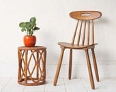 Bamboo Rattan Side Table Plant Stand