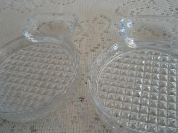 Lead Crystal Coasters And Tea Bag Holder Pair Of Crystal