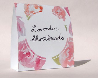 Peony Bridal Shower Tent Cards - Watercolour - DIY - Print Your Own