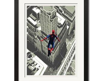 The Amazing Spider-Man Urban Graphic Art Poster Print