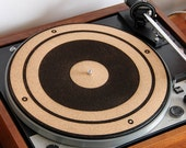 Cork Turntable Slipmat - Engraved Speaker Cone Design - Anti-Static Slipmat for Vinyl Records