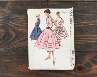 1950s McCall's pattern 8984 • junior dress and bolero • size 13 bust 31 • fit and flare