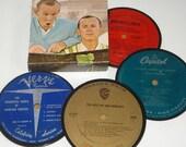 Comedy Album Coasters Smothers Brothers Bob Newhart record coaster set