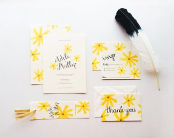 Flower Child Wedding Invites   Printable Wedding Invitation Template   INSTANT DOWNLOAD
